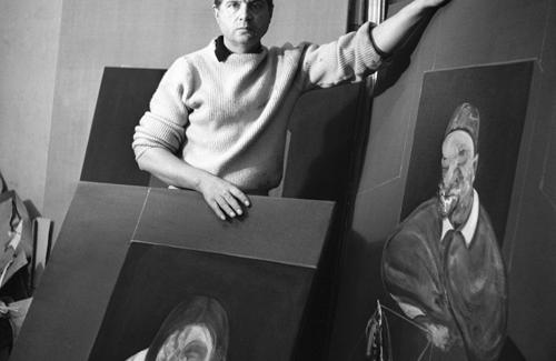Francis Bacon en su estudio (Cecil Beaton, 1960).