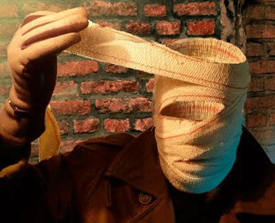 Ilustración de Josep Maria Beà, para 'El hombre invisible'.