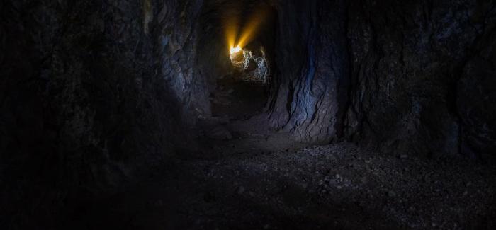 Interior de la mina, en la Sierra de La Cabrera. (Fotografía de Luis Cuadrado).