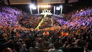 Mitin de VOX en el Palacio Vistalegre de Madrid, que congregó a más de 10.000 simpatizantes.