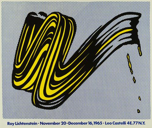 Roy Lichtenstein, Brushstroke, 1965. Copyright: © Fundación Canal.