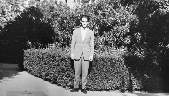 Federico García Lorca, en la Residencia de Estudiantes.