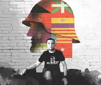 Acto en apoyo a Marco Antonio Santos, militar sancionado por declararse republicano