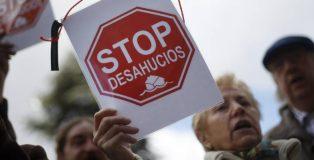 Manifestación en contra de los desahucios en Madrid (Fotografía: Stop Desahucios).