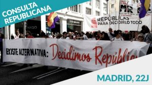 La República gana la consulta popular realizada en Madrid centro, el 22 de junio