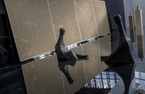 Exposición de escultura 'Autoeclipse', en el Centro de Arte Dos de Mayo de Móstoles