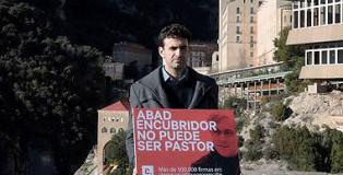 Miguel Ángel Hurtado, victima del monje Andreu Soler, y promotor de la campaña 'El abuso sexual no prescribe'.