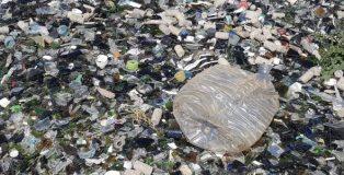 Toneladas de basura y cristales desbordan la única planta de reciclaje de vidrio en Madrid.