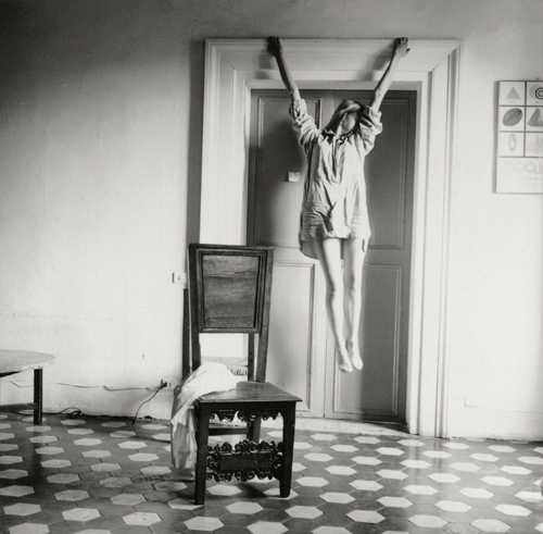 Exposición de fotografía de 'Francesca Woodman. Ser un ángel/On being an angel', en la Fundación Canal de Madrid.