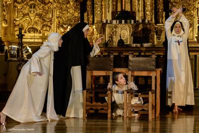 Representación de 'Muerte del apetito', de Sor Marcela de San Félix, en el Convento de las Trinitarias de Madrid