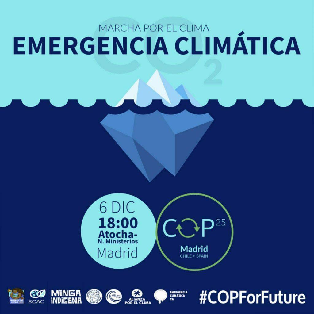Cartel anunciador de la Marcha por el Clima, el próximo 6 de diciembre, en Madrid.