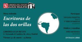Ciclo de charlas 'Escritoras de las dos orillas' con Viviana Paletta y Tere Susmozas.