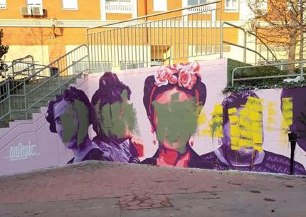 La réplica del mural feminista de Ciudad Lineal en Getafe también ha sido destrozada
