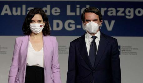 Aznar y Ayuso: dos falangistas mano a mano